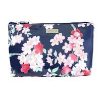 Wicked Sista Large Luxe Cosmetic Bag - Lyrical Blooms Navy