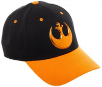 Star Wars Black Orange Chrome Ball Cap