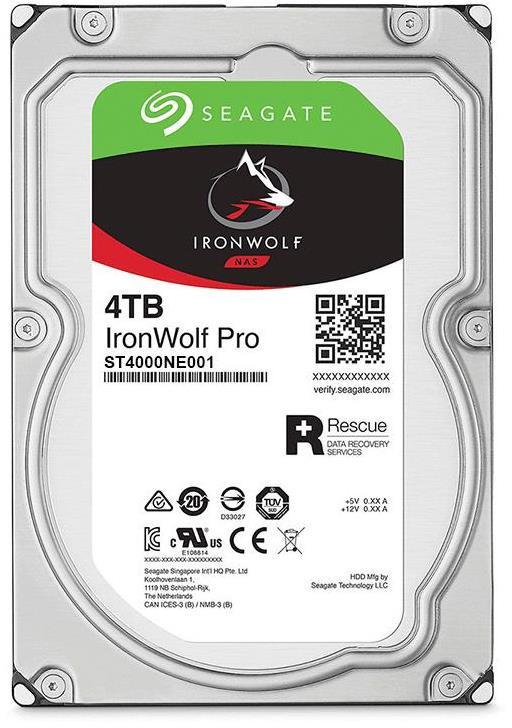 "4TB Seagate IronWolf Pro 3.5"" 7200RPM SATA NAS HDD"