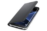 Samsung Galaxy S7 Edge Flip Wallet Case - Black