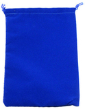 Suede Cloth Dice Bag (Small, Royal Blue)