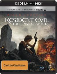 Resident Evil: The Final Chapter (4K UHD + Blu-ray) DVD