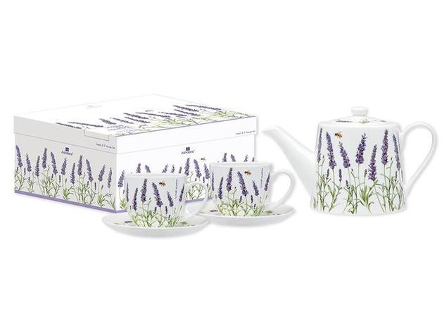 Ashdene: Lavender Fields - Teapot & 2 Teacup Set