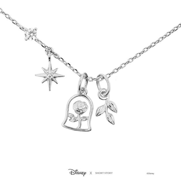 Short Story: Disney Beauty and the Beast Necklace - Silver