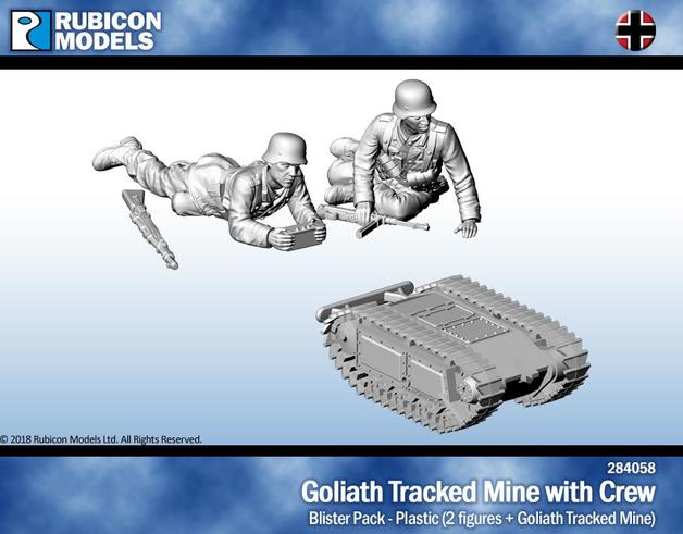 Rubicon 1/56 Goliath Tracked Mine with Crew