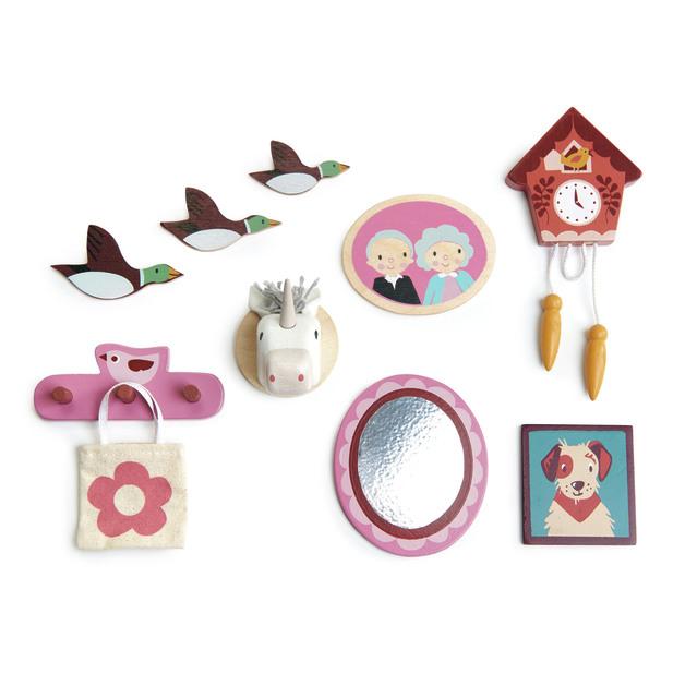 Tender Leaf Toys: Doll House - Wall Decor Set