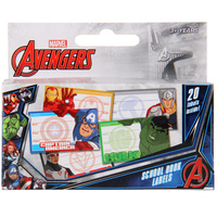 Avengers School Book Labels