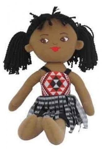 NZ Gift: Soft Doll Maori Girl - 40cm image