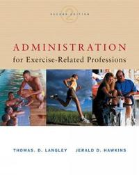 Administration for Exercise-Related Professions by Thomas Langley image