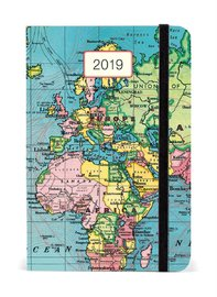 Vintage Map 2019 A5 Weekly Diary