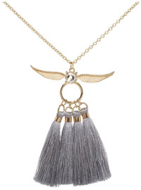 Harry Potter: Golden Snitch - Tassel Charm Necklace