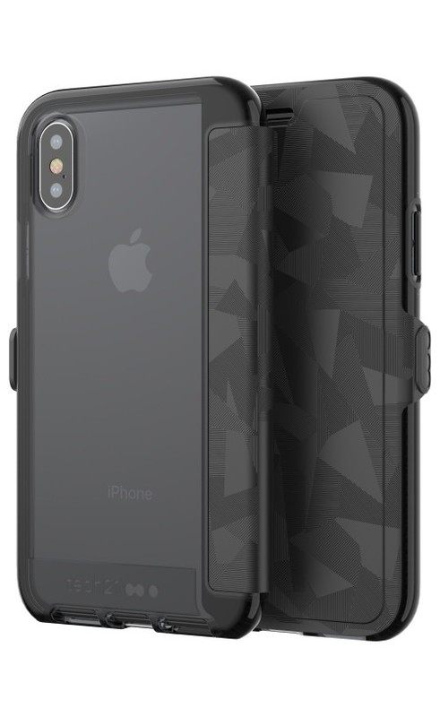 low priced f02ff 79cc0 Tech21 Evo Wallet for iPhone X - Black   at Mighty Ape Australia