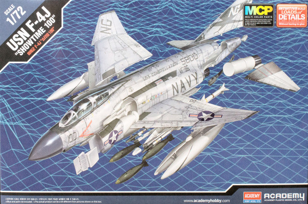 """Academy 1/72 F-4J """"Showtime 100"""" Scale Model Kit"""