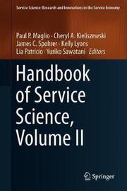 Handbook of Service Science, Volume II image