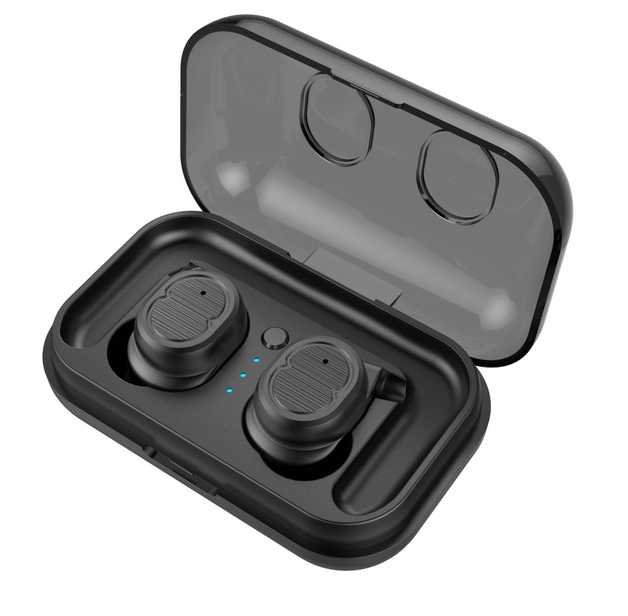 Wireless Stereo Sport Earphones - With Charging Box (Black)
