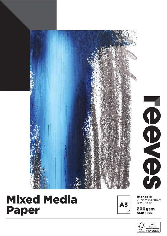 Reeves: Mixed Media Pad - A3 (200GSM, 15 Sheets)