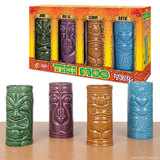 Ceramic Tiki Mugs - Set of 4