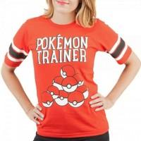 Pokemon Trainer Red Hockey Tee (Large)