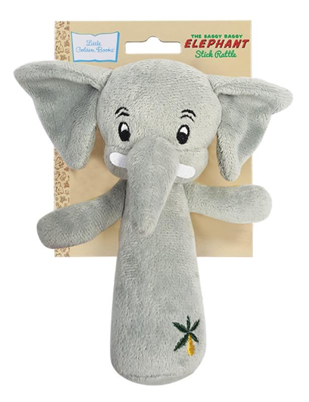 Little Golden Book: Saggy Baggy Elephant - Stick Rattle
