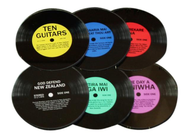 Moana Road: Kiwi Record Coasters