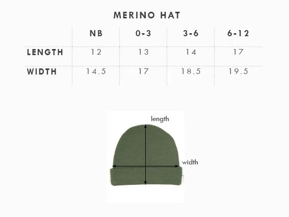 Babu: Merino Wool Hat - Navy (New Born) image