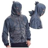 Godzilla Zip-Up Hoodie with Spikes (XL)