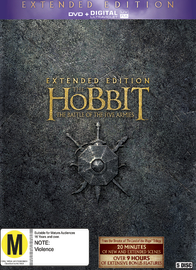 The Hobbit: The Battle of Five Armies - Extended Edition on DVD, UV