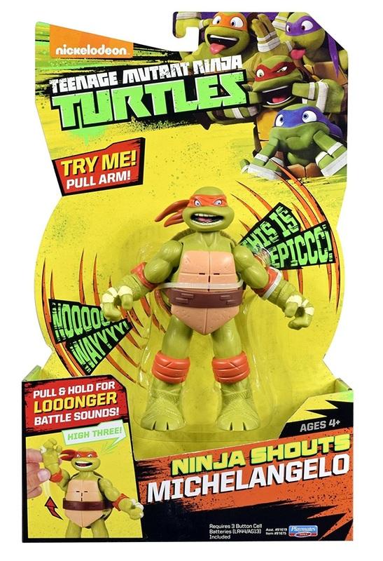 TMNT: Ninja Shouts Deluxe Figure - Michelangelo