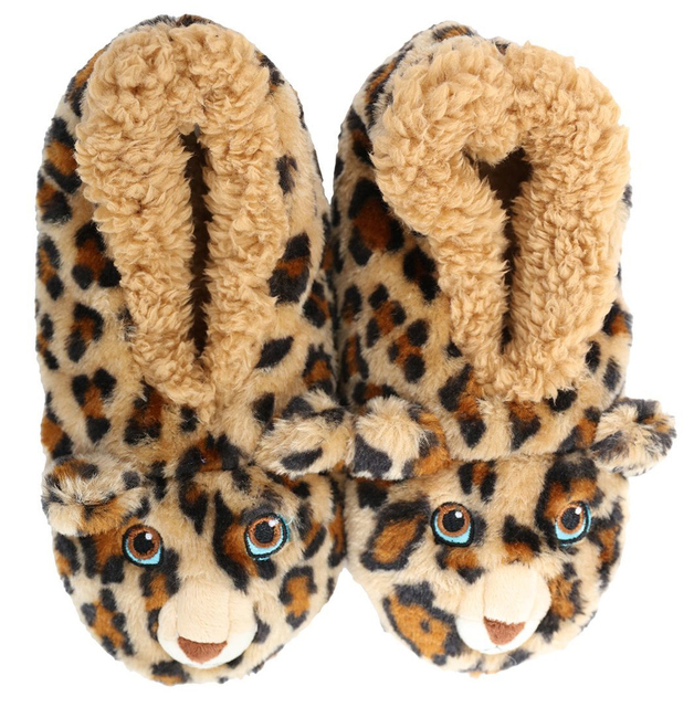 Slumbies: Leopard Furry Critters - Kids Slippers (Large)