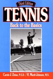 Tennis: Back to the Basics by Carole J. Zebas image