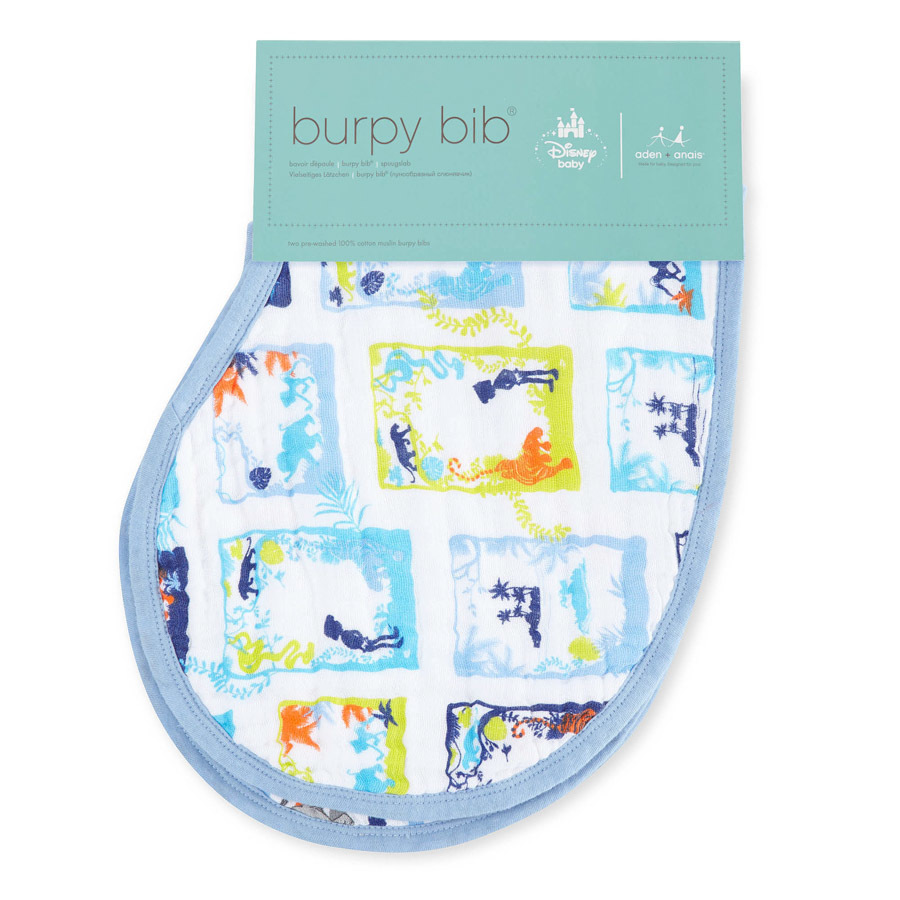 Aden+Anais: Disney Baby Burpy Bib - The Jungle Book (2 Pack) image