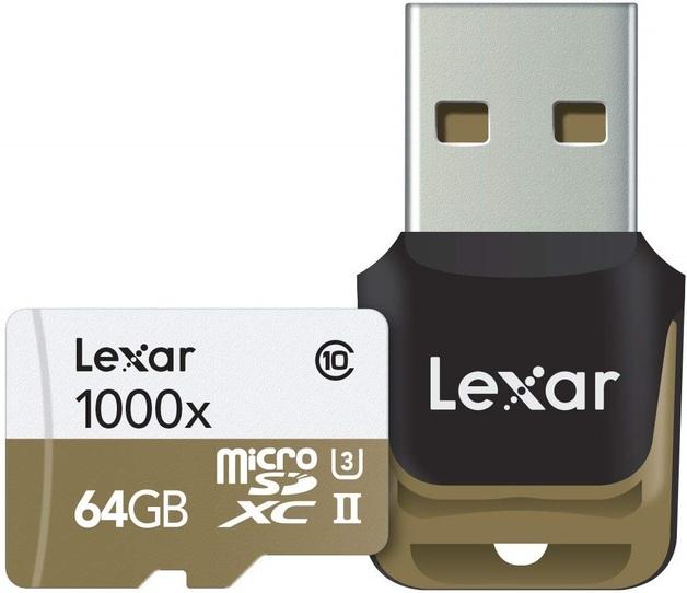 64GB Lexar Professional 1000x microSDHC/SDXC UHS-II