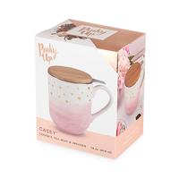 Casey Pink Ceramic Tea Mug & Infuser image