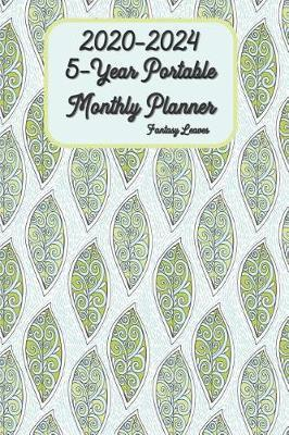 2020 - 2024 5-Year Portable Monthly Planner Fantasy Leaves 6x9 by Green Cycle