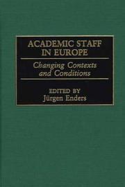 Academic Staff in Europe by Jurgen Enders