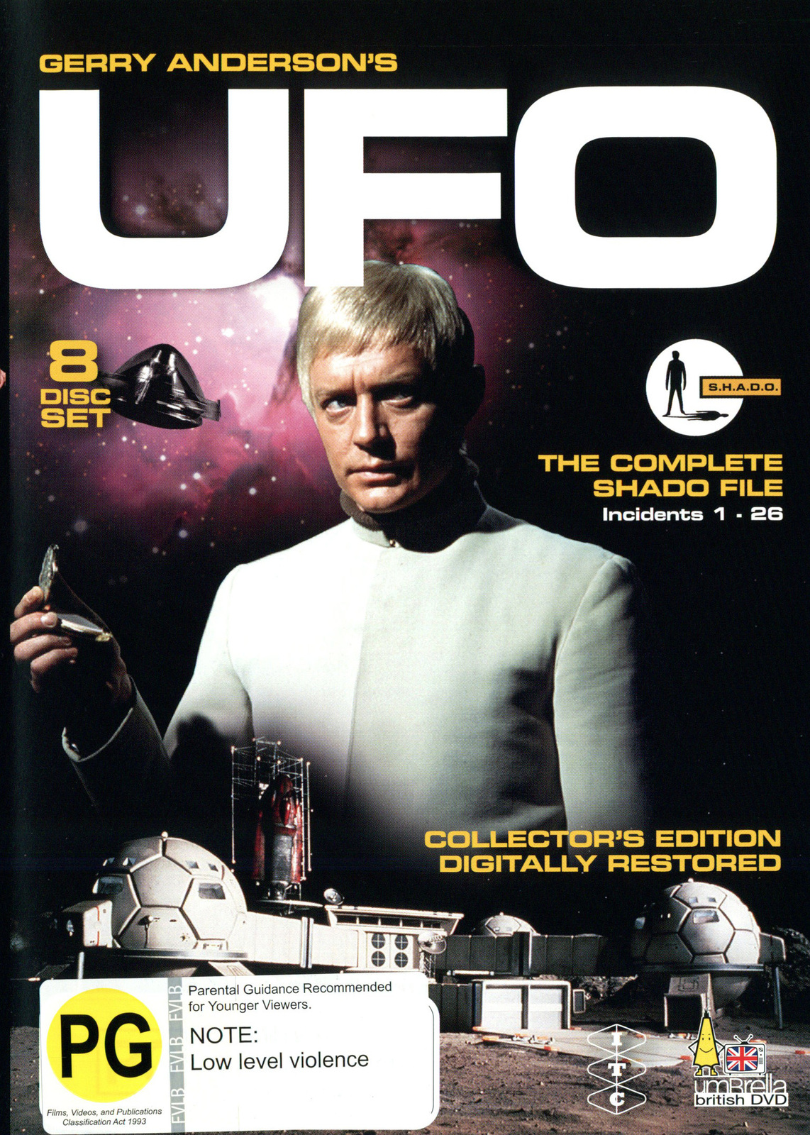 UFO - The Complete Shado File: Incidents 1-26 (8 Disc Set) on DVD image