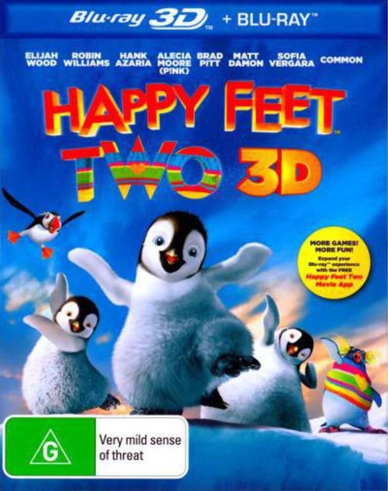 Happy Feet Two 3D Blu-ray/Blu-ray on Blu-ray, 3D Blu-ray image