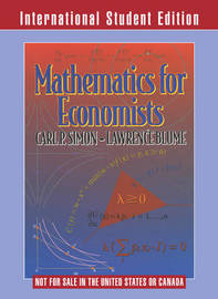 Mathematics for Economists by Lawrence E. Blume