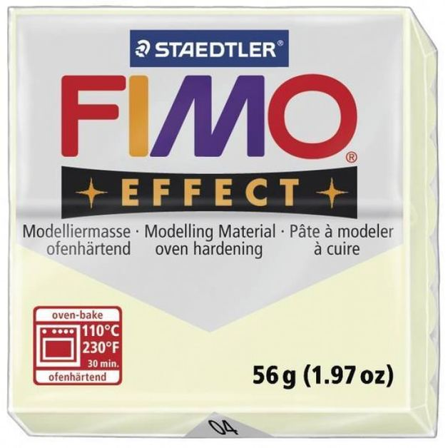 Staedtler Fimo Effect Modelling Clay Block - Nightglow (56g)