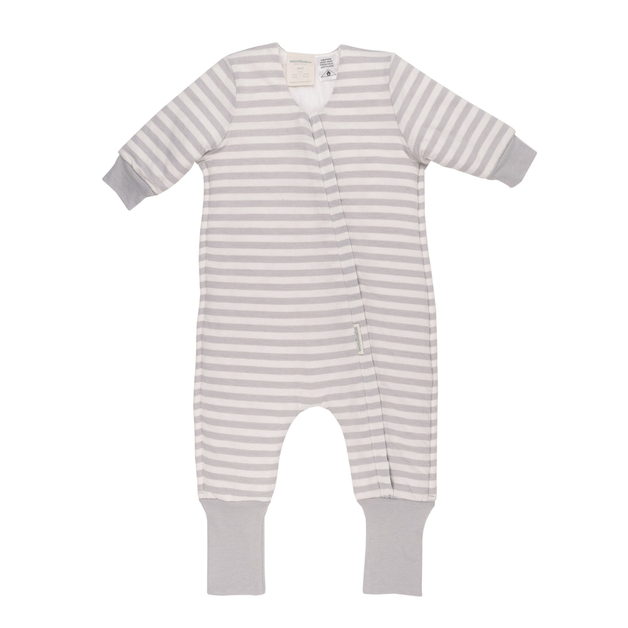Woolbabe: Duvet Sleeping Suit with Sleeves Pebble - 3 Years