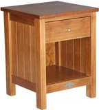 Touchwood Metro 1 Drawer Bedside (Rimu)