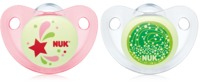 NUK: Glow in the Dark Soother - Assorted Girls Size 3 (2 Pack)
