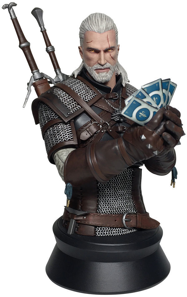 The Witcher 3: Geralt Playing Gwent - Mini Bust image