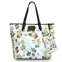 Loungefly Disney Tinkerbell Tattoo Tote