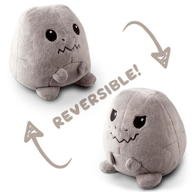 TeeTurtle: Reversible Mini Plush - T-Rex (Grey)