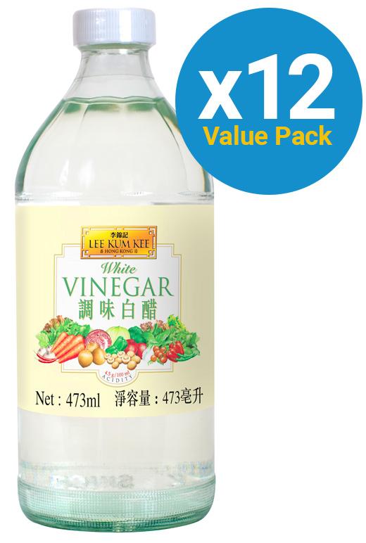 Lee Kum Kee - White Vinegar 473ml x 12