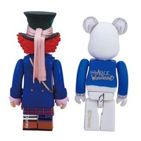 Kubrick Mad Hatter (Blue Jacket Version) & Bearbrick White Rabbit Cat Figures image