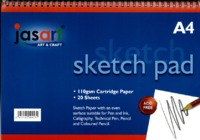 Jasart A4 Sketch Pad- Spiral