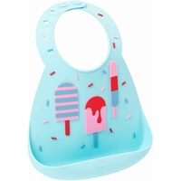 Make My Day: Silicon Baby Bib - Ice Creams Aqua