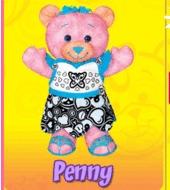 Doodle Bear Velvet Art - Penny